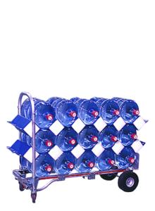 bottle hammock on cart holding 15 bottles