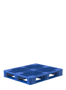 blue single double leg ratchet metric pallet