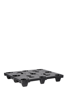 single black nestable pallet for distribution