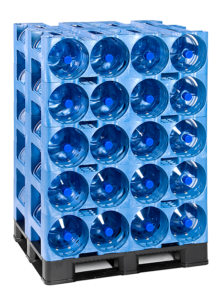 ProStack 4 pocket with bottles on pallet