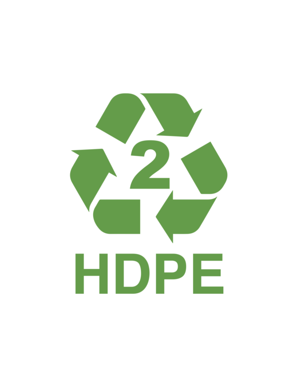recyclable logo of hdpe
