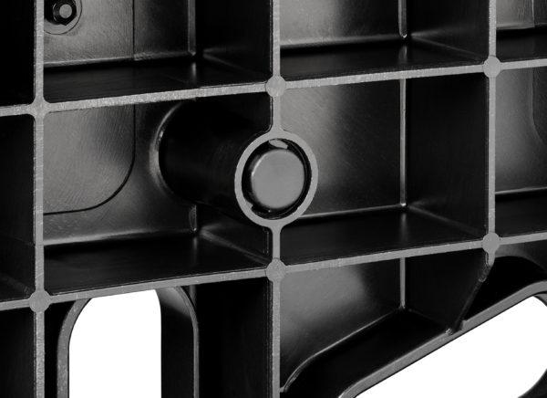 bottom view of black grommet