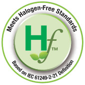 meets halogen-free standards logo