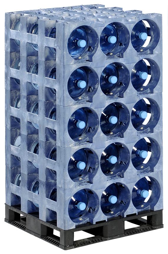 blue ProStack 3 Pocket stack on top of pallet